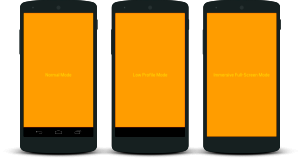 Multiple ways to activate FullScreen in Android React Native